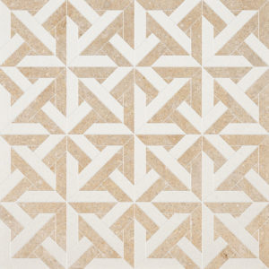 Champagne, Seashell Multi Finish Marmara Limestone Waterjet Decos 24,6x24,6