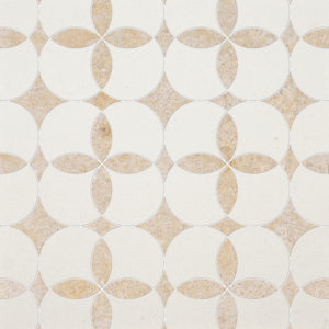 Champagne, Seashell Honed Constantine Limestone Waterjet Decos