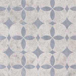 Silver Shadow, Allure Light Multi Finish Constantine Marble Waterjet Decos 34,52x34,52