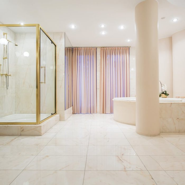 Natural stone showers