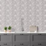 New Tundra Gray Honed Hexagon Marble Mosaics 26,5x31