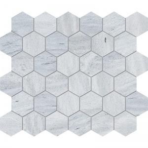 Neptune White Honed Hexagon Marble Mosaics 26,5x31
