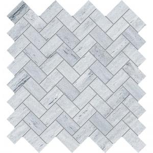 Neptune White Honed Herringbone Marble Mosaics 30,5x33,5