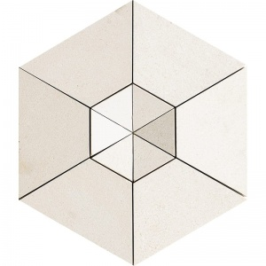 Champagne Honed Cellini Hexagon 50 mm Limestone Mosaics 27,5x31,5