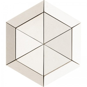 Champagne Honed Cellini Hexagon 100 mm Limestone Mosaics 27,5x31,5