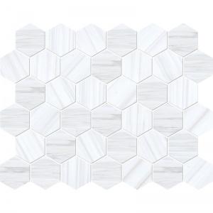 Bianco Dolomiti Classic Honed Hexagon Marble Mosaics 26,5x31