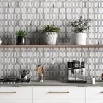 Skyline, Snow White, Allure Multi Finish Pillar Marble Mosaics 33x33