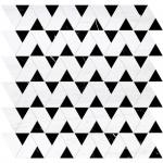 Snow White, Black Honed Monte Marble Mosaics 31,5x31,5