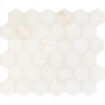 Calacatta Amber Honed Hexagon Marble Mosaics 26,5x31