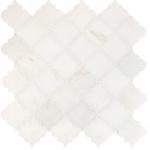 Calacatta Amber Honed Meshed Arabesque Marble Mosaics 30,5x30,5
