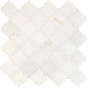 Calacatta Amber Honed Meshed Arabesque Marble Mosaics 30,5x30,5