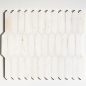 Calacatta Amber Honed Baby Picket Marble Mosaics 33,5x28
