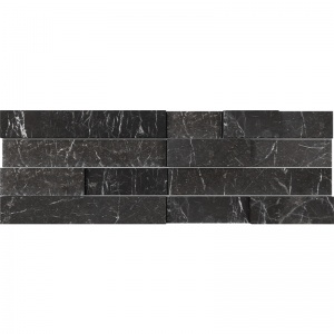 Iris Black Honed Marble  Wall Decos Mini Elevations Pattern