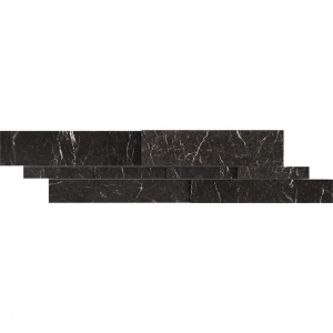 Iris Black Honed Marble  Wall Decos New Elevations Pattern