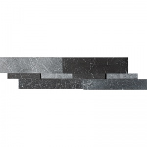 Iris Black Honed & Leather Marble Wall Decos New Elevations Pattern