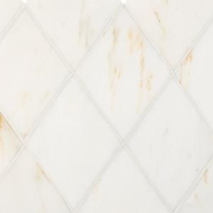 Calacatta Amber Polished Almas Marble Waterjet Decos 23,65x26,6