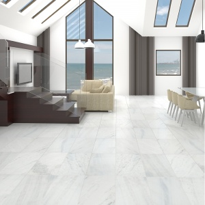 Fantasy White Honed Marble Collection