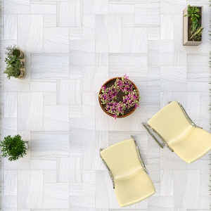 Skyline Vein Cut Textura Marble Pavers Versailles Pattern